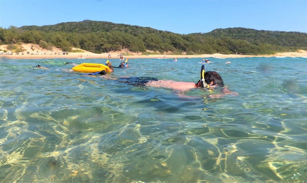 Cape Vidal Snorkeling on a spring low tide
