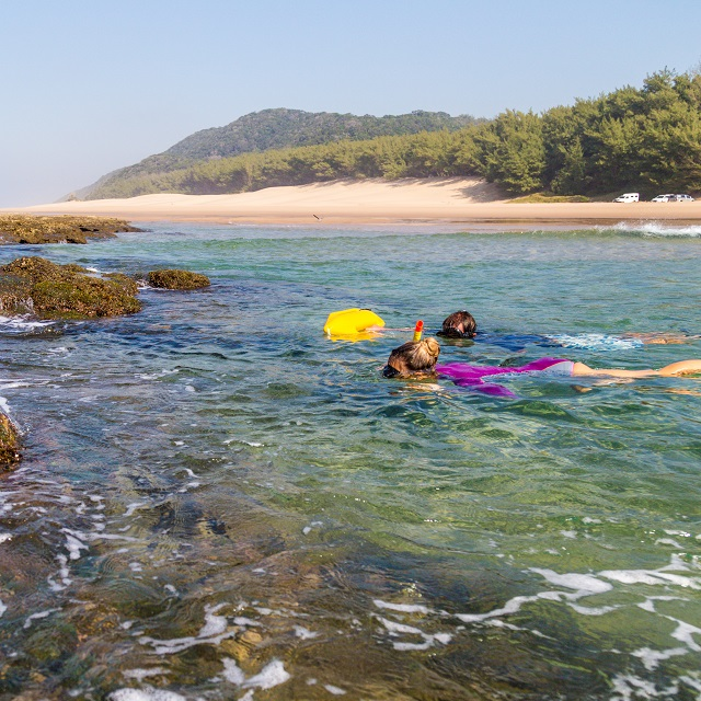 Snorkeling at Cape Vidal, iSimangaliso, South Africa can be done safely with the correct equipment, guidance and at the correct tides.
